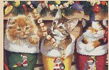 Navidad Gatitos Contado Punto de Cruz Kit Completo #4-426