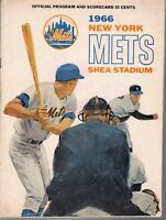 1966 8/2 Baseball program, San Francisco Giants New York Mets, scored GOOD