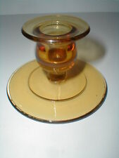 Depression Glass Amber Candle Holder/Candlestick