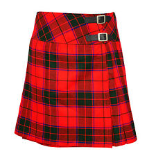 "Ladies Knee Length Scottish Rose Kilt Skirt 20"" Length Tartan Pleated"