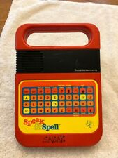 Vintage Texas Instruments Speak & Spell Learning Game parts, repair with module