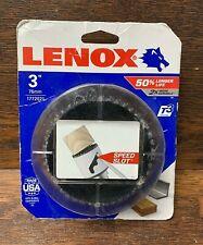 "LENOX 3"" Hole Saw, Bi-Metal with Speed Slot p/n 1772021, NEW"