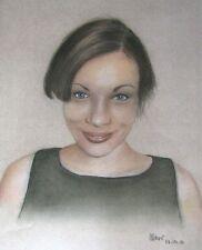 Portrait - on commission - original pastel/gouache