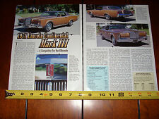 1971 LINCOLN CONTINENTAL MARK III - ORIGINAL 1999 ARTICLE