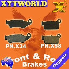 Front Rear Brake Pads Yamaha WR450 WR 450 4T 2003-2010