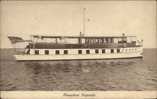 Boat House Boat Nepenthe c1915 Postcard