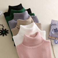 Winter Turtleneck Slim Fit Base Sweater Pullover Long Sleeve Elastic Knit Tops