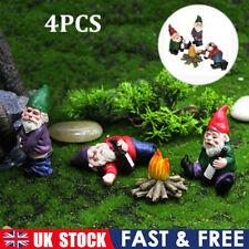 More details for 4 pcs naughty drunken dwarf garden resin gnome statue diy dress up garden scene