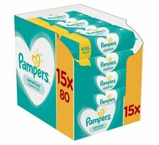 Pampers Sensitive Baby Child Diaper Wipes   Hypoallergenic   Fragrance free 1200