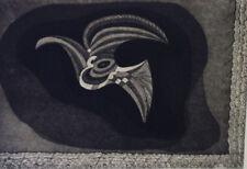 SIMORGH  noir blanc EAU FORTE Art Moderne Khosrow PARVIZ XXème Iran Perse Orient