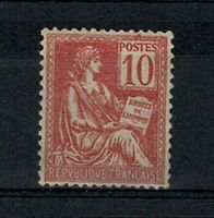 "FRANCE STAMP TIMBRE YVERT N° 116 "" MOUCHON 10c ROUGE TYPE II "" NEUF xx TTB V633"