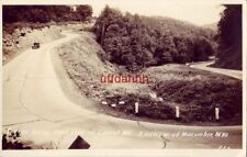 Rppc Curves U.S. 50 East Side Of Laurel Mt. West Of Macomber, Wv 1930's era auto