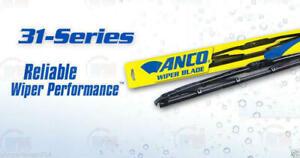 "1x 11""   ANCO 31-11 Windshield Wiper Blade 31-Series 11"" inch Black Metal"