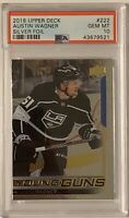 2018 2019 UPPER DECK Austin Wagner PSA 10 SILVER FOIL YOUNG GUNS RC ROOKIE YG UD