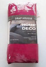 Drap Housse 90x190cm 1 pers Home Deco