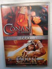 CONAN EL BARBARO & CONAN EL DESTRUCTOR DVD, ESPAÑA
