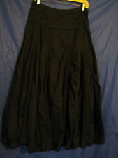 MISS ME Black Cotton CIRCLE/FLARE SKIRT Super Full LACE INSETS Boho/Gypsy SZ M