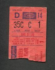 1980 Bruce Springsteen concert ticket stub Madison Square Garden The River 11/27