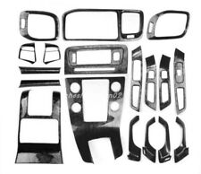 Black Wood Grain Car interior kit Cover Trim For VOLVO S60 2014-2018