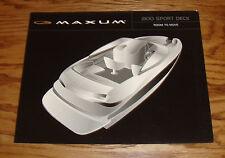 Original 2001 Maxum Boat 2100 Sport Deck Sales Brochure 01