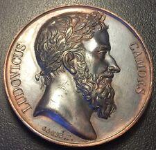 Portugal - Louis de Camoës - médaille en Cuivre par Caqué - 1821 !