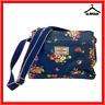 Cath Kidston Oilcloth Navy Blue Floral Shoulder Bag Hand Bag Cross Body Pocket