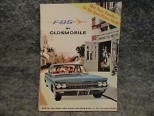 F-85 Oldsmobile Dealer Brochure Advertising Book 1961 Vintage Booklet