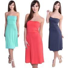 Bandeau Sommer Kleid Lang Maxi Kleid Strandkleid Gr. 36 38 40 42, 8205