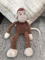 "Jellycat Soft Slackajack Monkey chimp toy beanie 14.5"" plush brown J1690 ape"