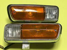 Datsun 520 521 Pickup Truck Front Parking Turn Signal Lights Genuine NOS