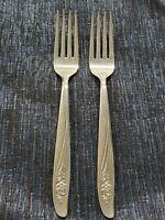 Oneida Stainless Dinner Fork, Rose Pattern, Flatware, Vintage