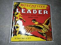"""Porcelain Winchester Leader Enamel Sign Size 12"""" X 12"""" Inches"""