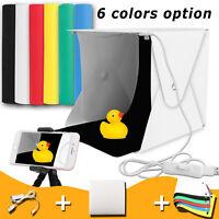 Mini Portable Light Photography Photo Box LED Lighting Room Tent Kit 6 Backdrops