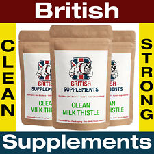 Clean Milk Thistle Extract 8,775mg (280mg Silymarin) Capsules 3 Month Supply UK