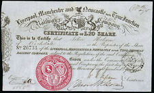 More details for liverpool, manchester and newcastle-upon-tyne junction railway co., £20 share...