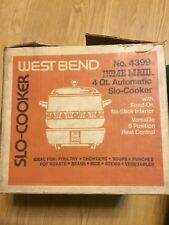 West Bend 4399 Automatic 4 Qt Slo-Cooker Decorated Home Maid Original Box!! 1976