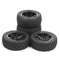 Rubber Tyre Buggy Front Rear Tire Wheel Rims 4Pcs For HSP RC 1:10 Off-Road Car