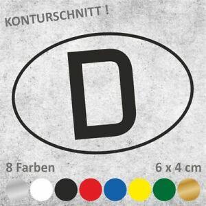 D-Schild Nationalitätszeichen Autoaufkleber Sticker Aufkleber 6 x 4 cm