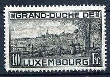 LUXEMBOURG 1923 10Fr BLACK SCOTT 152 MINT NO GUM