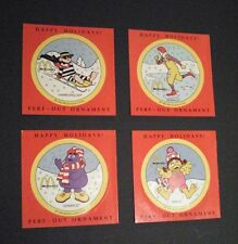 Lot of 4, McDonald's Happy Holidays Perf-Out Ornaments