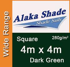 Extra Heavy Duty Shade Sail Dark Green Square 4m x 4m, 4x4m, 4 by 4m, 4x4, 4 x 4