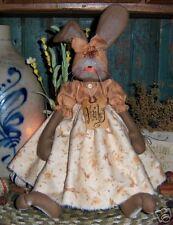 Primitive Raggedy Bunny Rabbit Spring Doll Paper Pattern #285