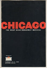 """""""Chicago"""" National Tour Playbill Pittsburgh 1999 Belle Calaway, Adrian Zmed"""