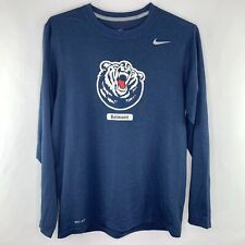 Nike Dry Fit Long Sleeve Shirt Belmont Basketball Gray Size Medium