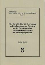 Schriftenreihe: sächsischen Bergbau, Steinbach-Sauschwemme Johanngeorgenstadt