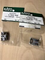 KATO N Scale 800053 Truck Budd w/o Coupler Silver Lot Of 2