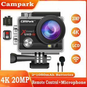 Campark 4K 20MP Sports Camera WiFi Waterproof Action Cam Camcorder as Go Pro