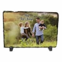 Personalised Any Text/Image Rock Slate Photo Frame - Large Rectangle