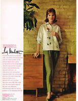 1960 LADY MANHATTAN Silk Shirt w/ Hand-Painted Roses VTG Print Ad