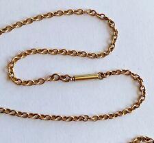 More details for ladies antique victorian 9ct gold barrel clasp / belcher necklace chain / 5.1 g